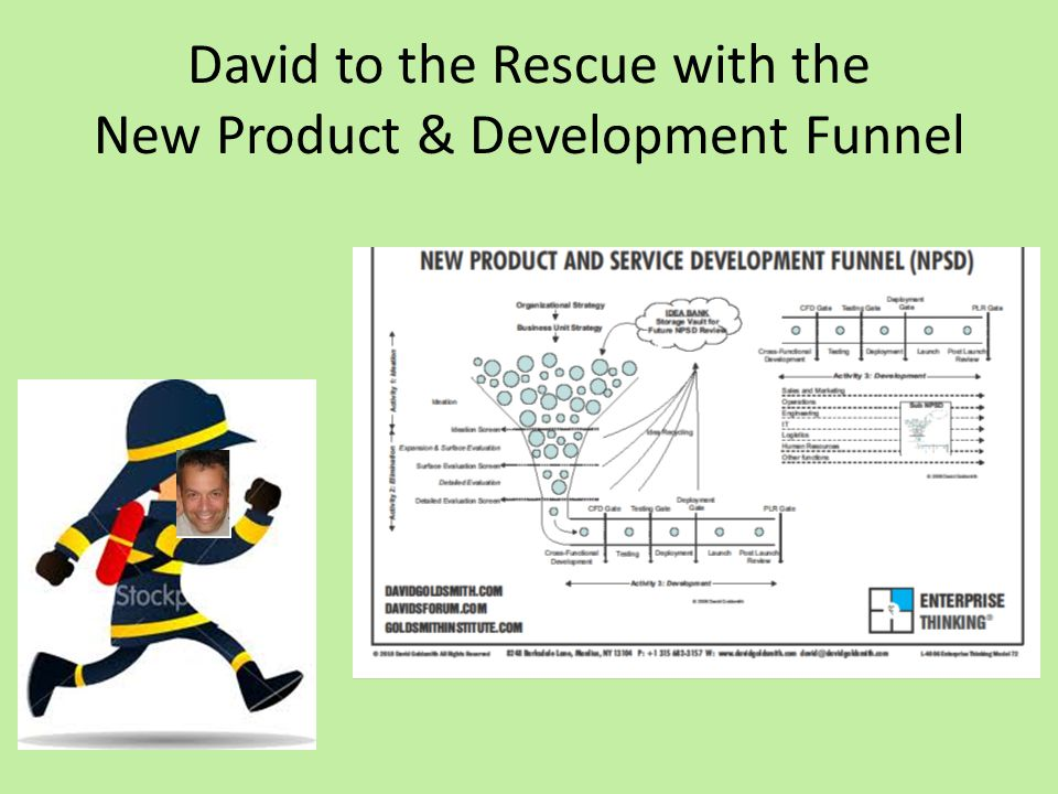 David to the Rescue with the New Product & Development Funnel