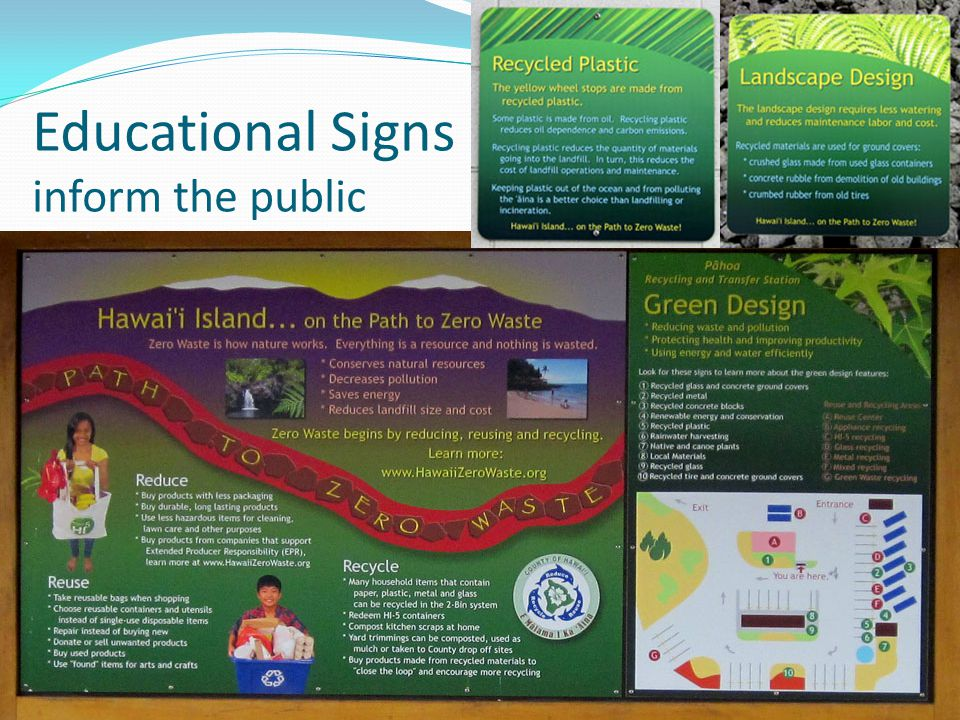 Educational Signs inform the public