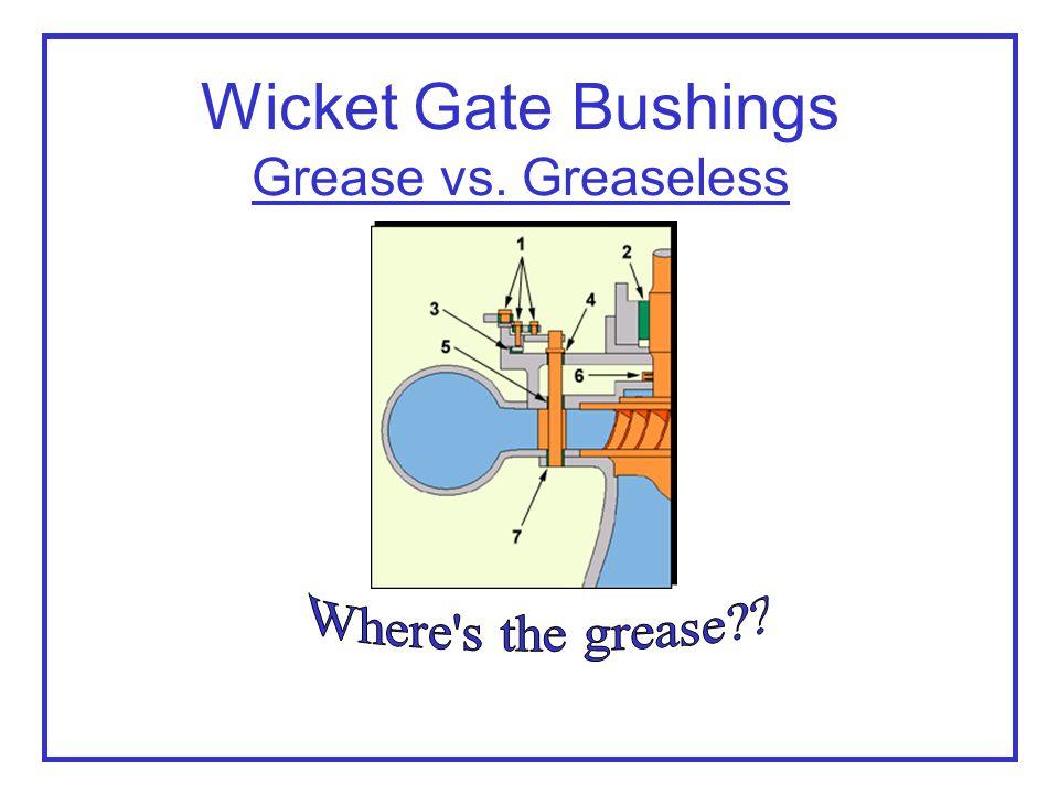 1.Linkage bushings 2. Bearing 3. Wear pads 4. Wicket gate bushings 5.