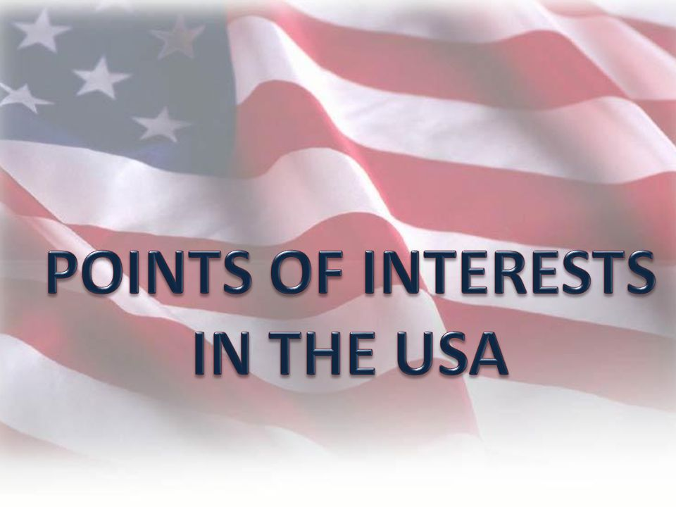 Points of interests in THE USA