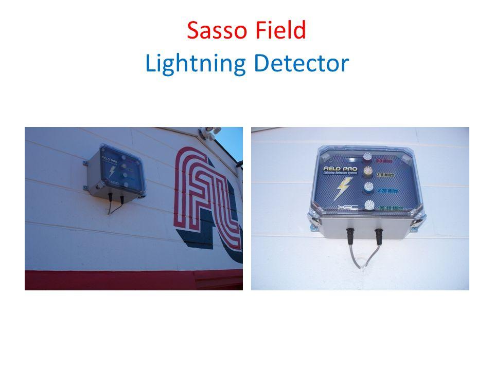 SASSO FIELD New cameras Installed Sealed blacktop under bleachers