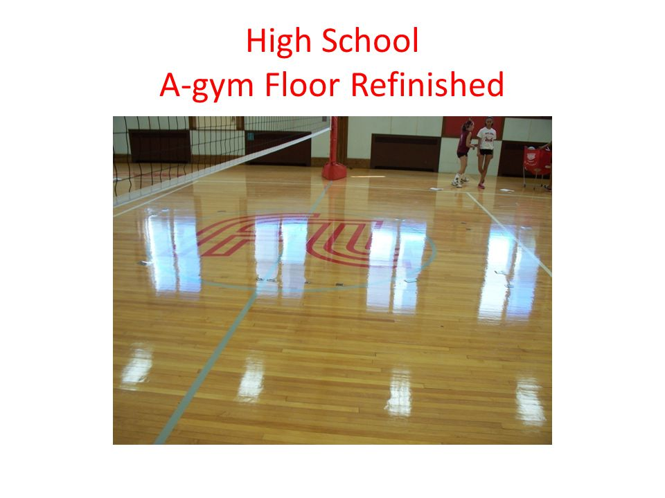 High School A-gym Floor Refinished