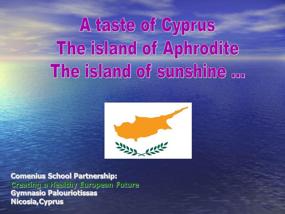 Comenius School Partnership: Creating a Healthy European Future Gymnasio Palouriotissas Nicosia,Cyprus