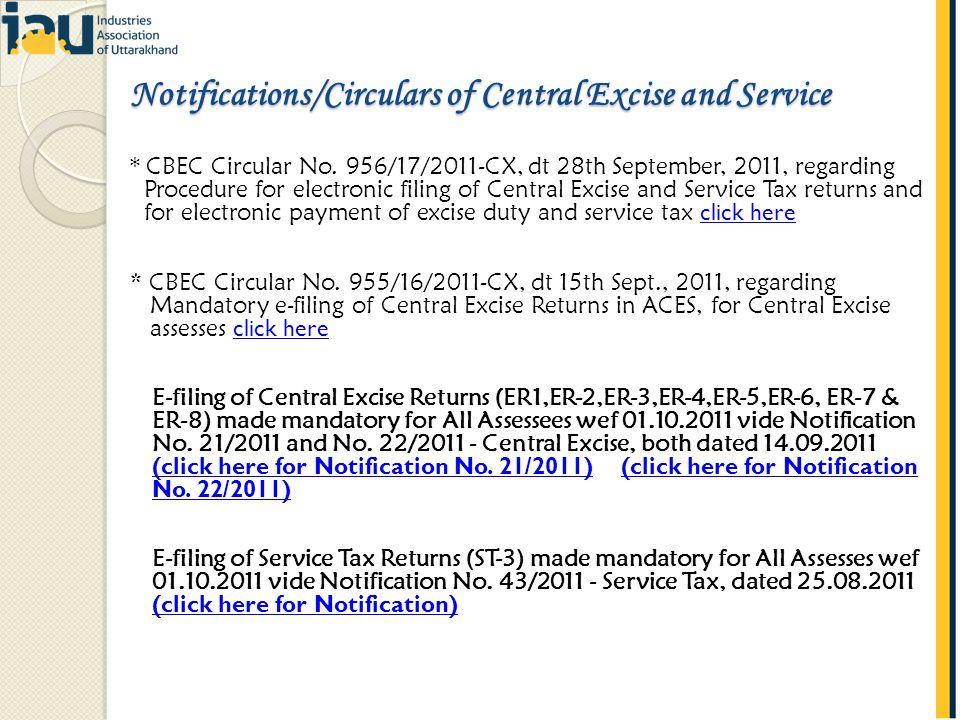 * CBEC Circular No.