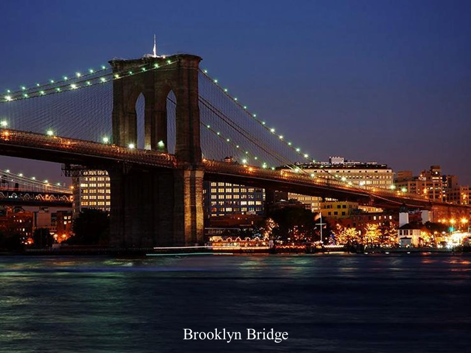 Brooklyn Bridge from World Trade Center (no more), New York, USA