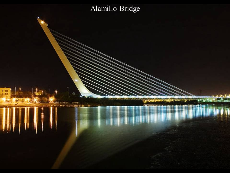 Alamillo Bridge (Puente del Alamillo), Seville, Andalusia (Spain)