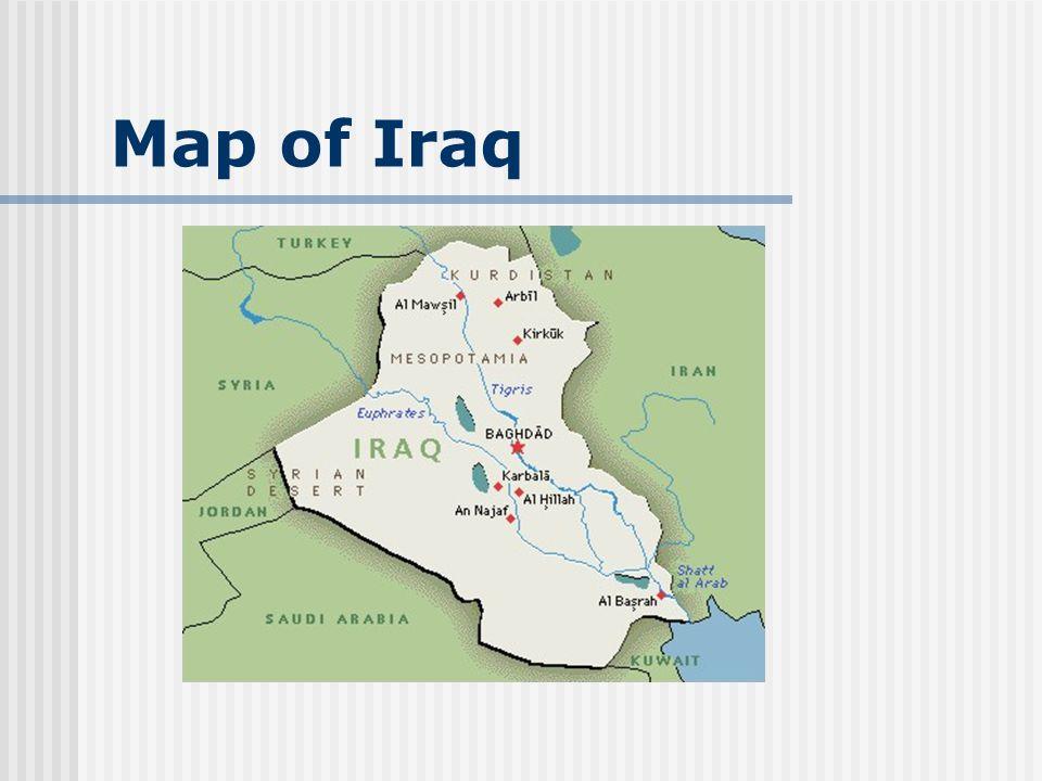 Map of Iraq