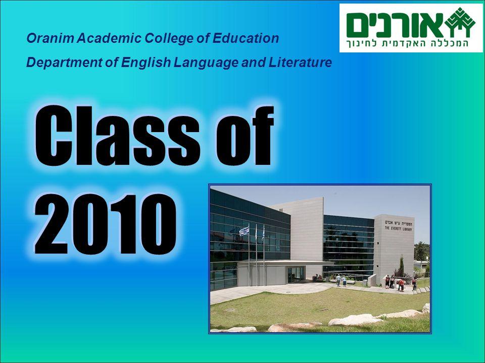 Oranim Academic College of Education Department of English Language and Literature