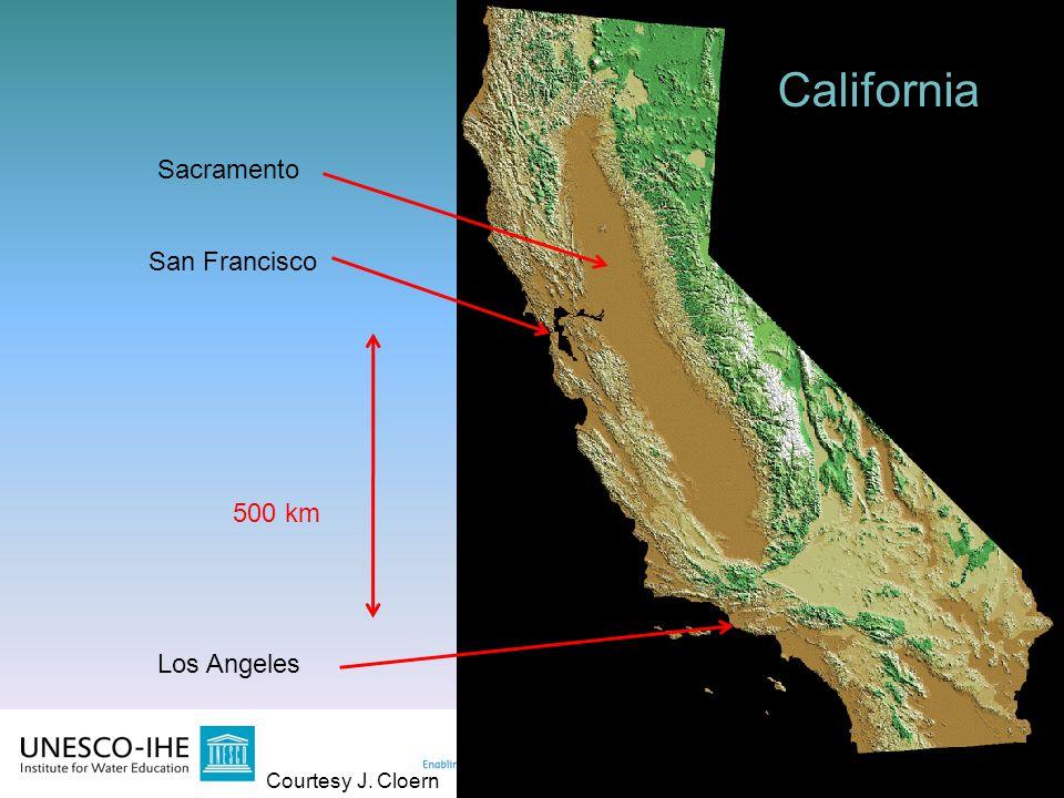2 2 500 km California San Francisco Los Angeles Sacramento Courtesy J. Cloern California