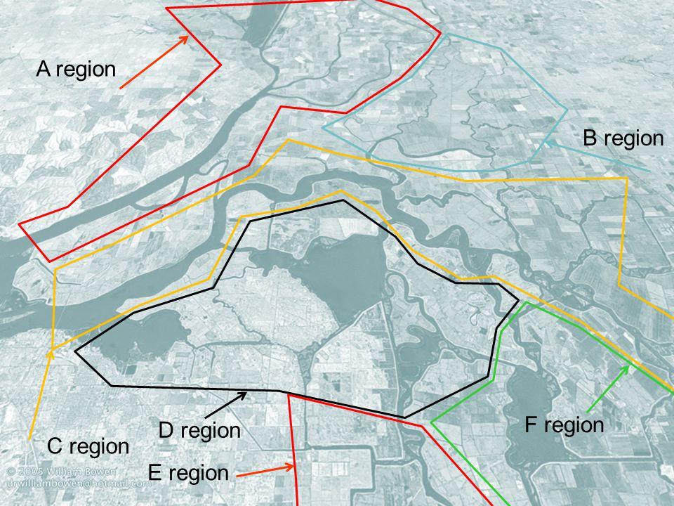 30 D region A region B region C region E region F region