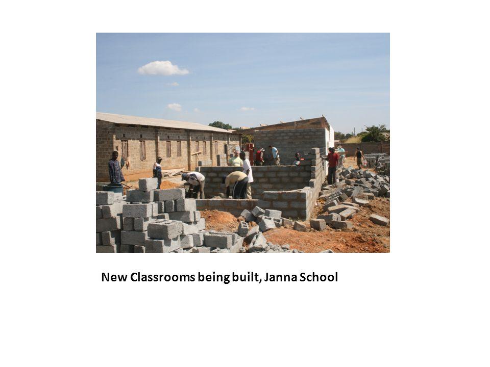 New Classrooms being built, Janna School