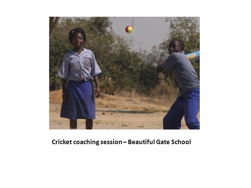 Cricket coaching session – Beautiful Gate School