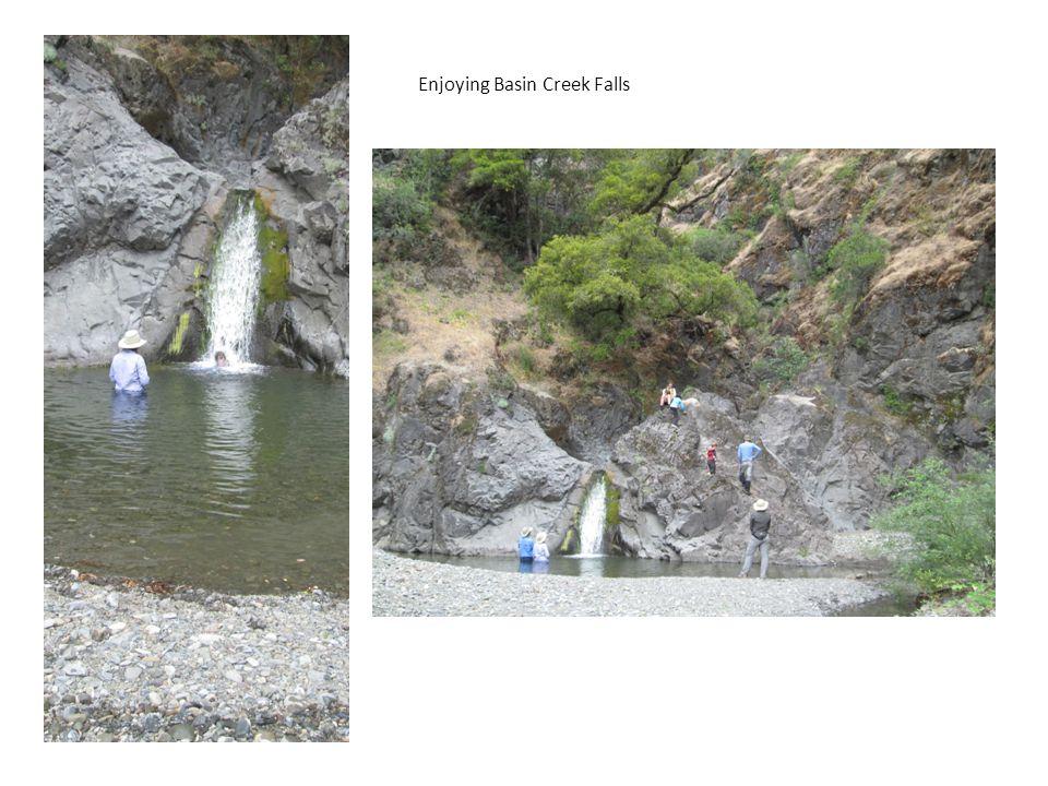 Enjoying Basin Creek Falls