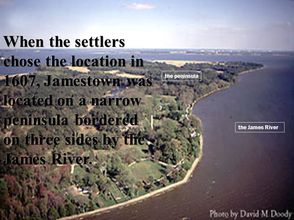 the James River the peninsula