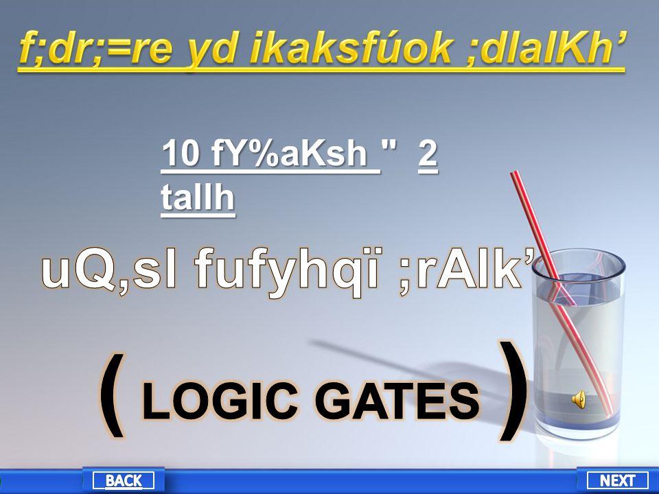 10 fY%aKsh 2 tallh