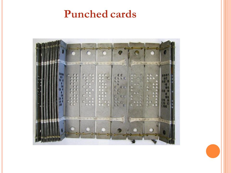 Punched cards