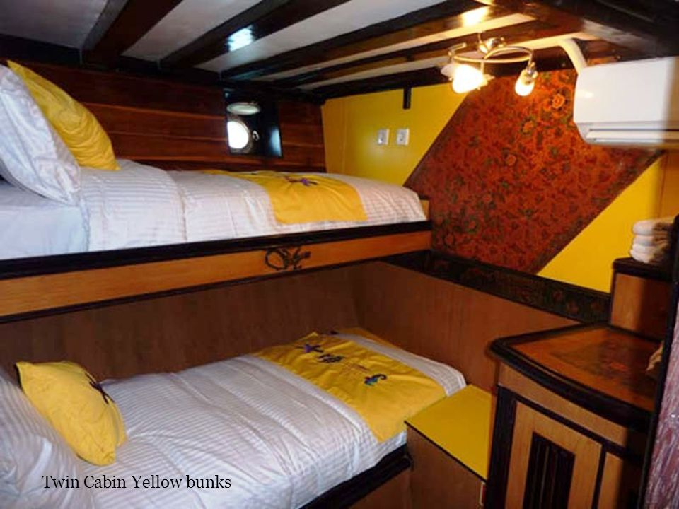 Twin Cabin Yellow bunks