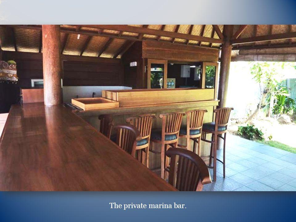 The private marina bar.
