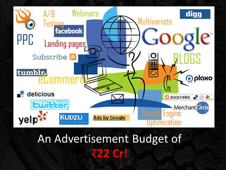 An Advertisement Budget of 22 Cr!