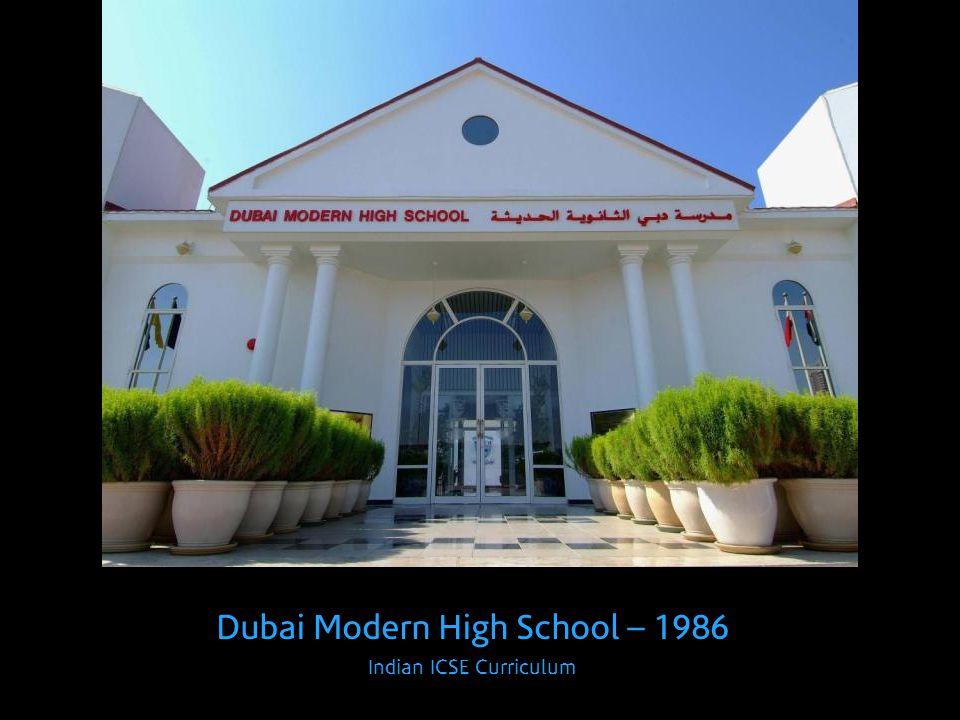 Dubai Modern High School – 1986 Indian ICSE Curriculum