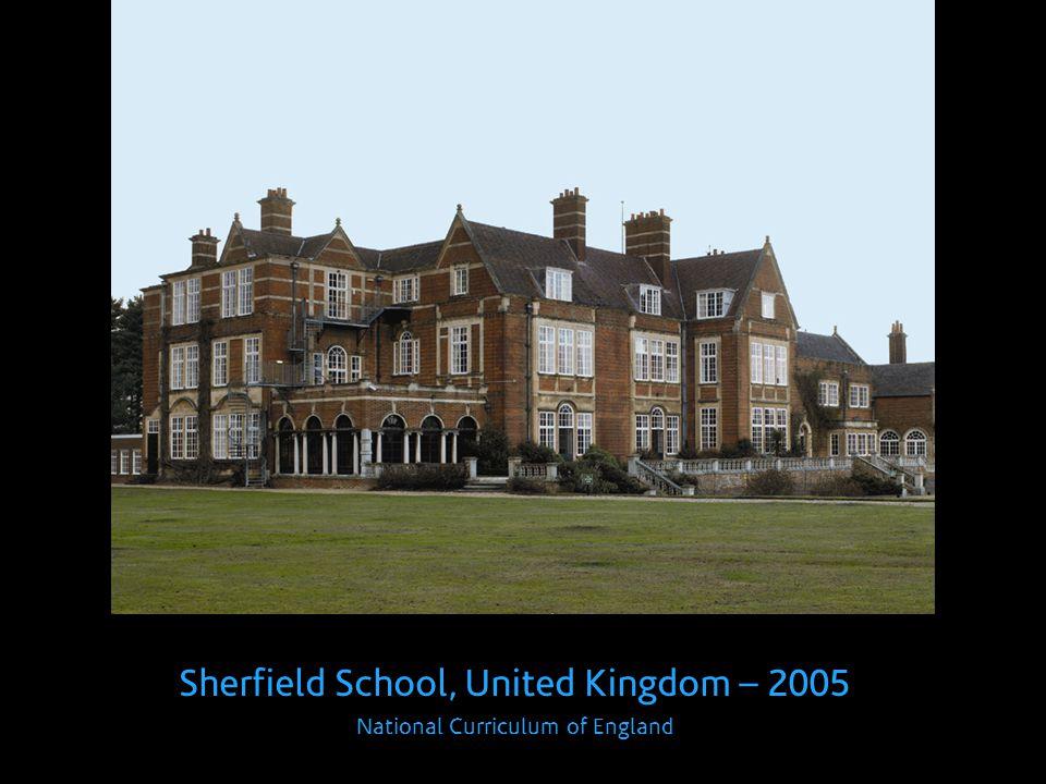 Sherfield School, United Kingdom – 2005 National Curriculum of England