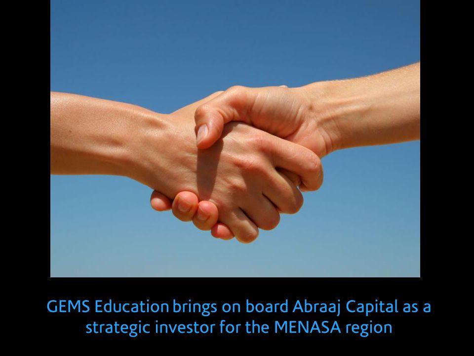 GEMS Education brings on board Abraaj Capital as a strategic investor for the MENASA region