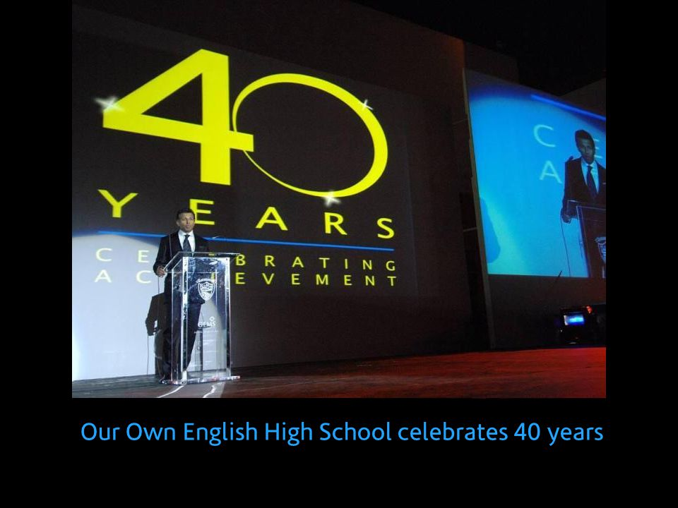 Our Own English High School celebrates 40 years