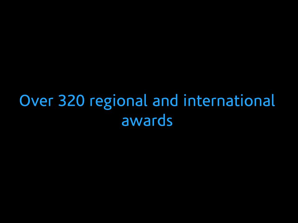 Over 320 regional and international awards