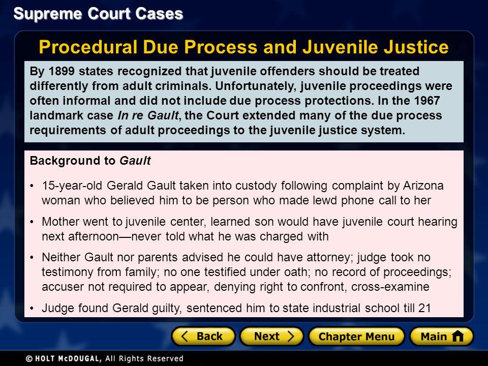 juvenile justice adult justice system