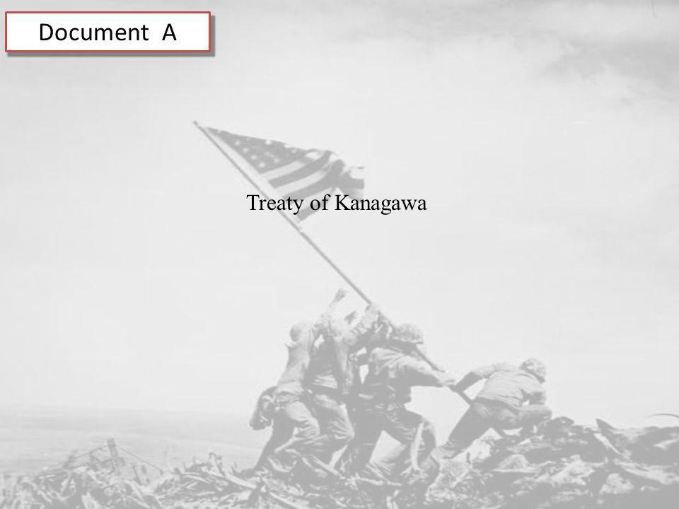 Document A Treaty of Kanagawa