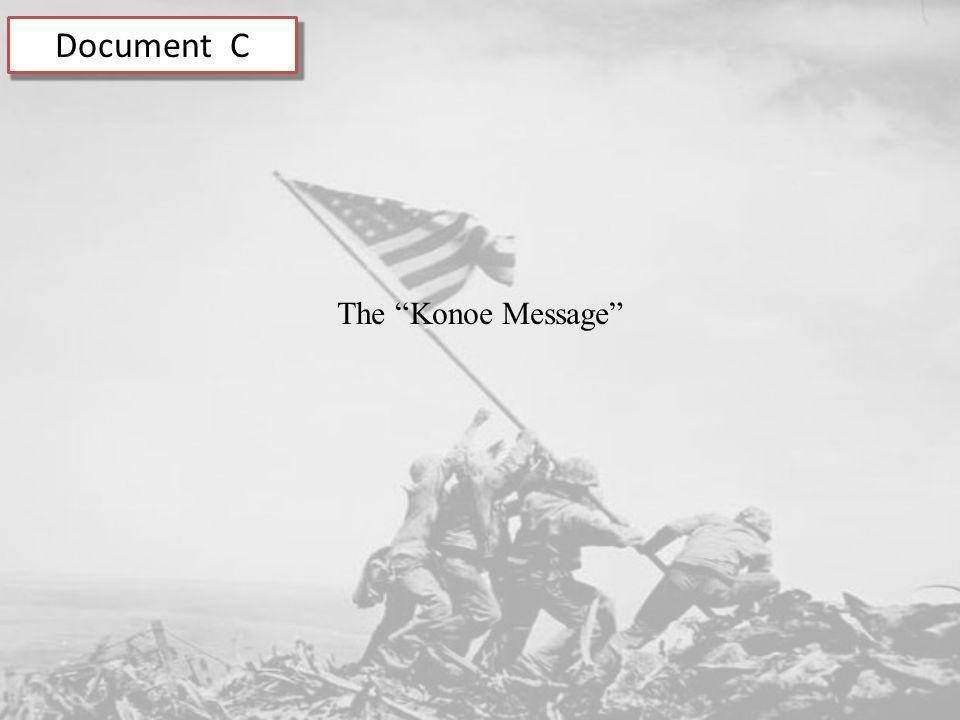 Document C The Konoe Message