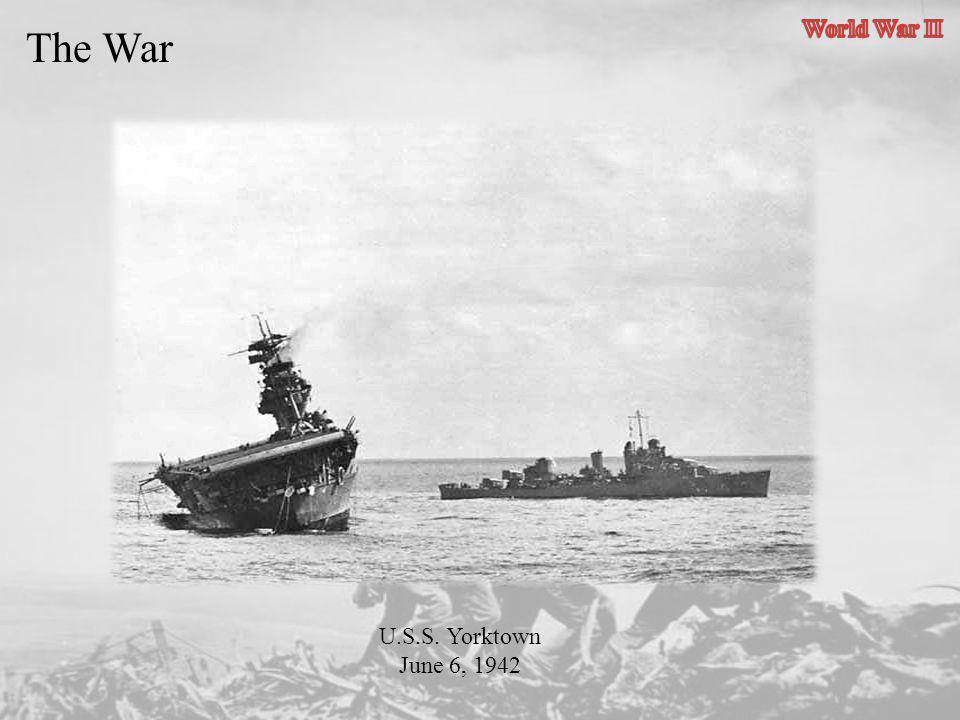 U.S.S. Yorktown June 6, 1942
