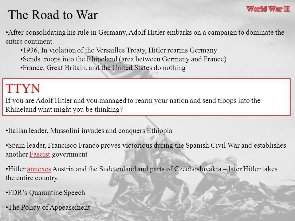 The Road to War The Players