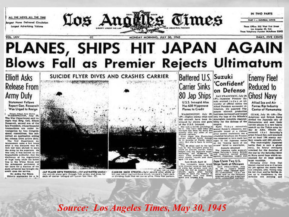 Source: Los Angeles Times, May 30, 1945