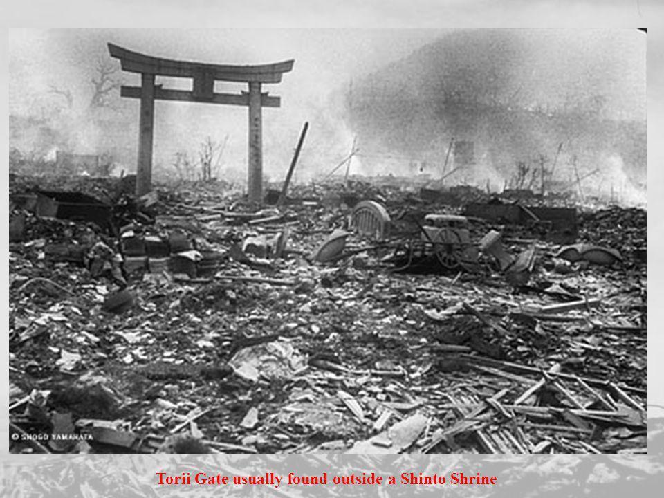 Torii Gate usually found outside a Shinto Shrine