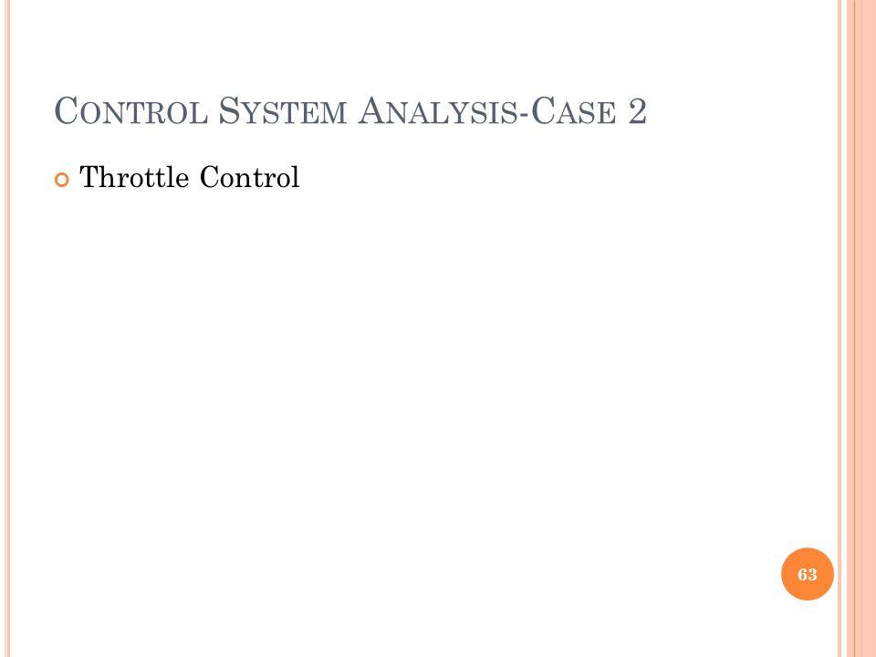C ONTROL S YSTEM A NALYSIS -C ASE 2 Throttle Control 63
