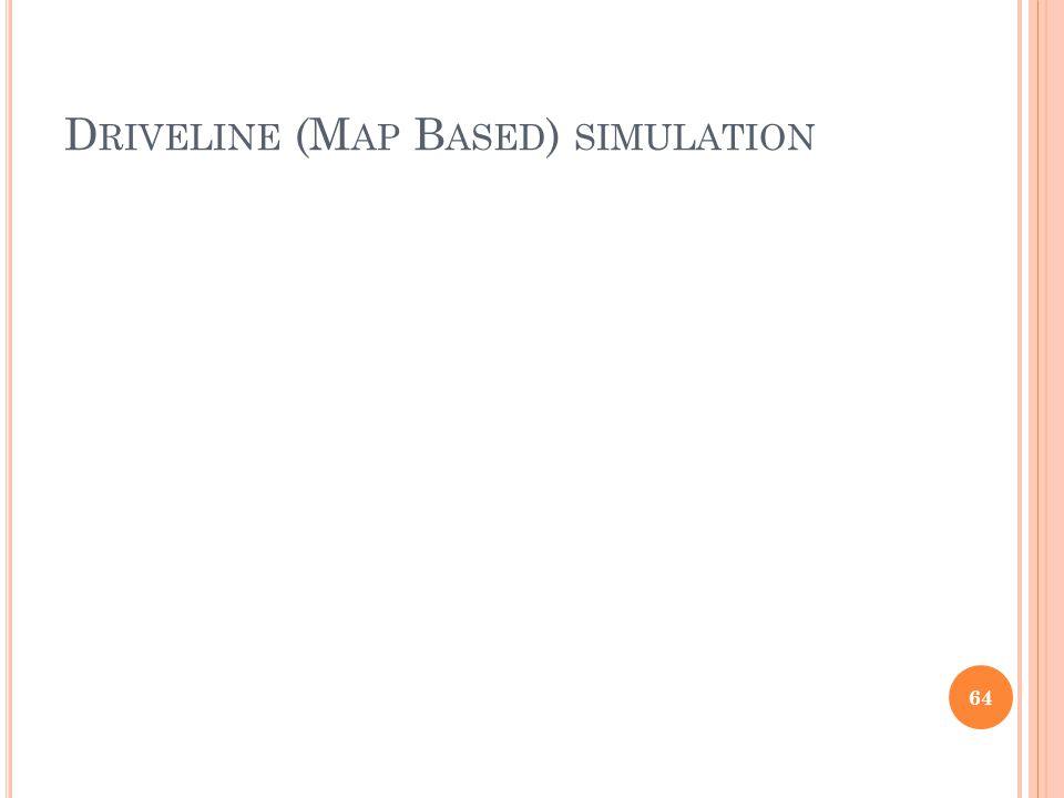 D RIVELINE (M AP B ASED ) SIMULATION 64