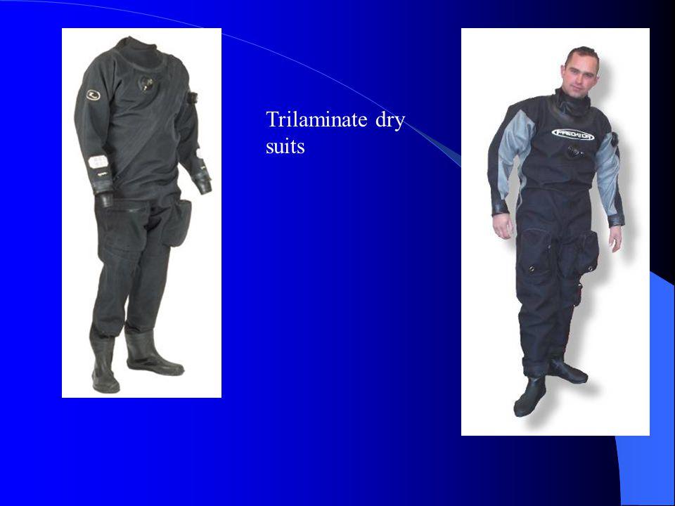 Trilaminate dry suits