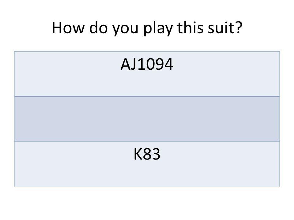 How do you play this suit AJ1094 K83