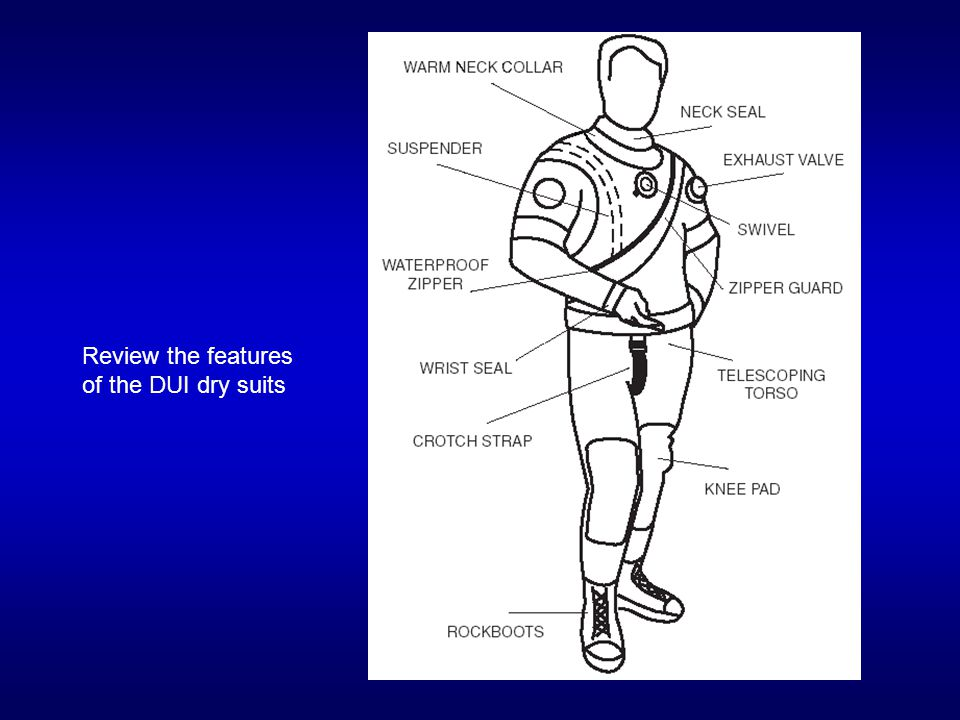 Review the features of the DUI dry suits
