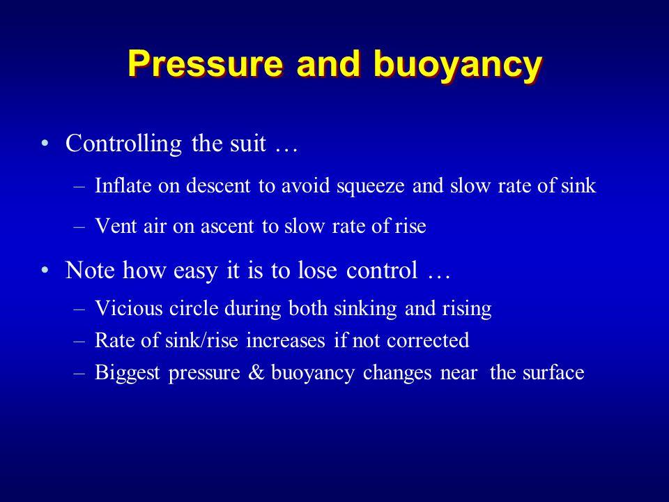 Diving a Dry Suit - Ascending Ensure that automatic exhaust valve is open before ascending.