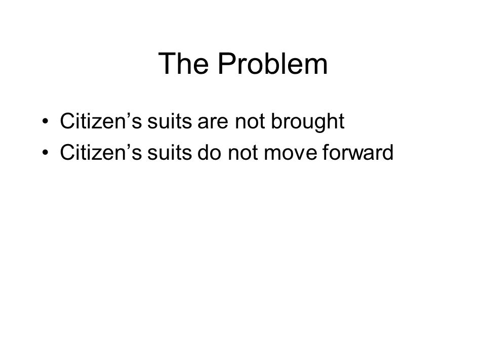 Citizens Suits