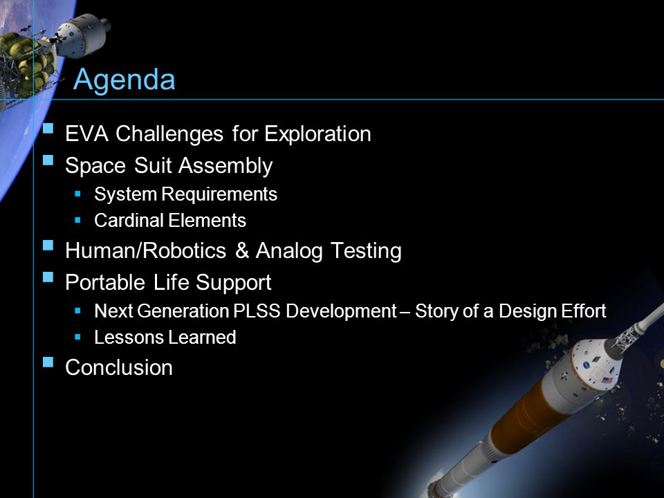 The overall NASA goal is to get to Mars by using LEO and Lunar missions as stepping stones Initial Prove-Out –System Verification –Improve Design –Etc.
