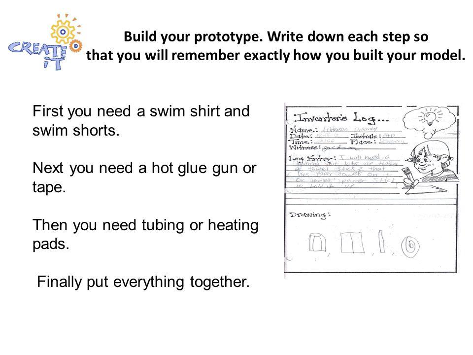 Build your prototype.