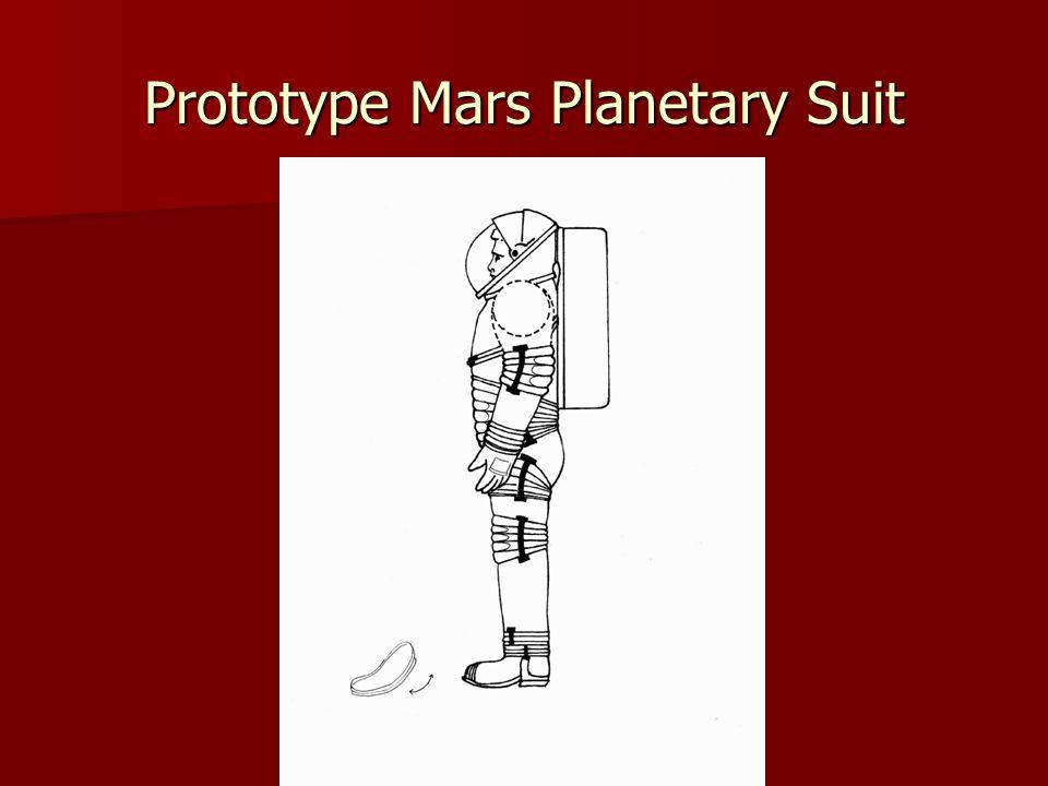 Prototype Mars Planetary Suit