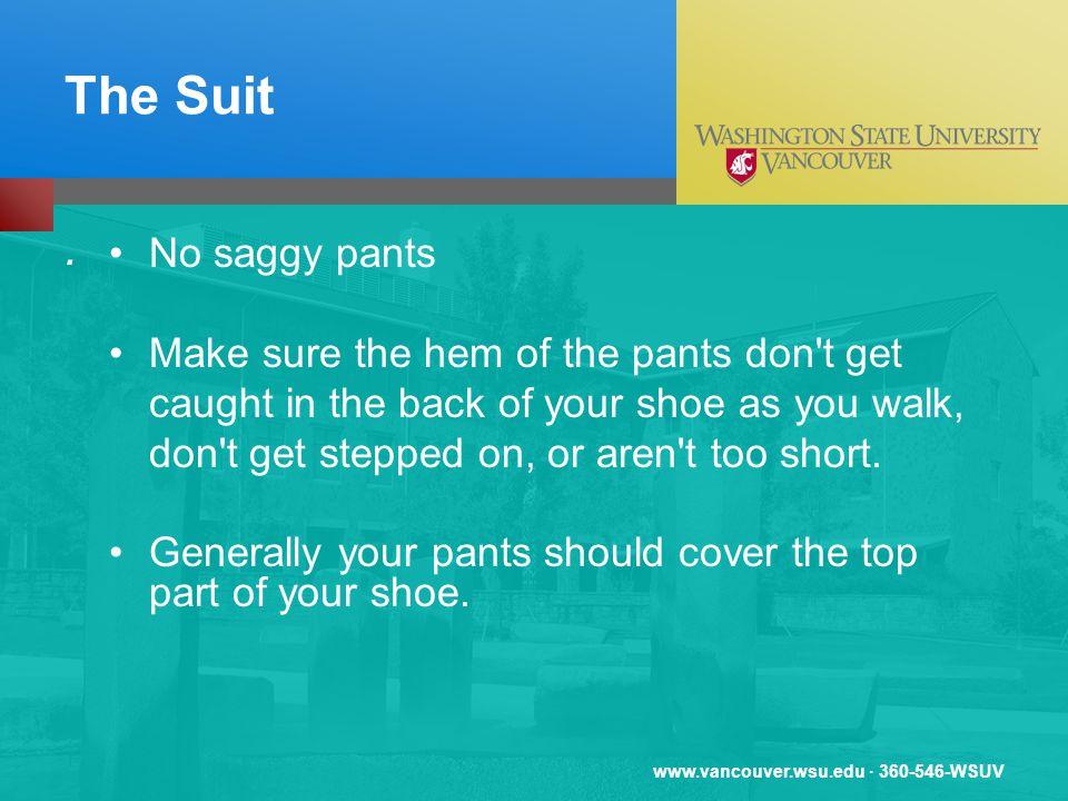 www.vancouver.wsu.edu · 360-546-WSUV The Suit.