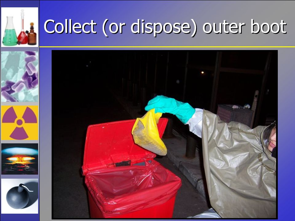 Collect (or dispose) outer boot