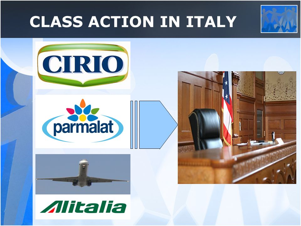 CLASS ACTION IN ITALY