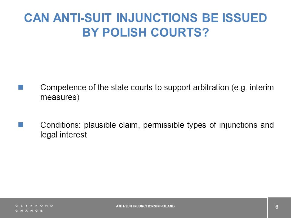 CAN ANTI-SUIT INJUNCTIONS BE ISSUED BY POLISH COURTS.