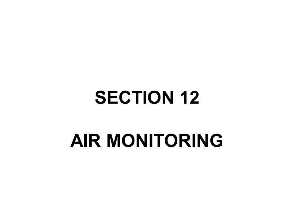 SECTION 12 AIR MONITORING